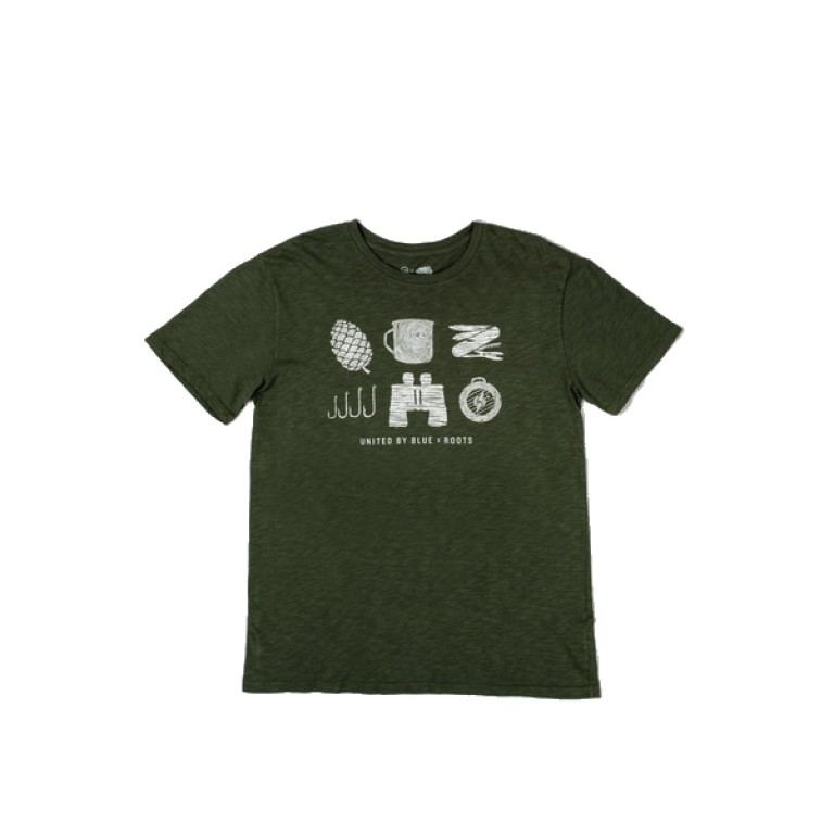United By Blue - T-Shirts - UBB X Roots Hand Carved Essentials Tee