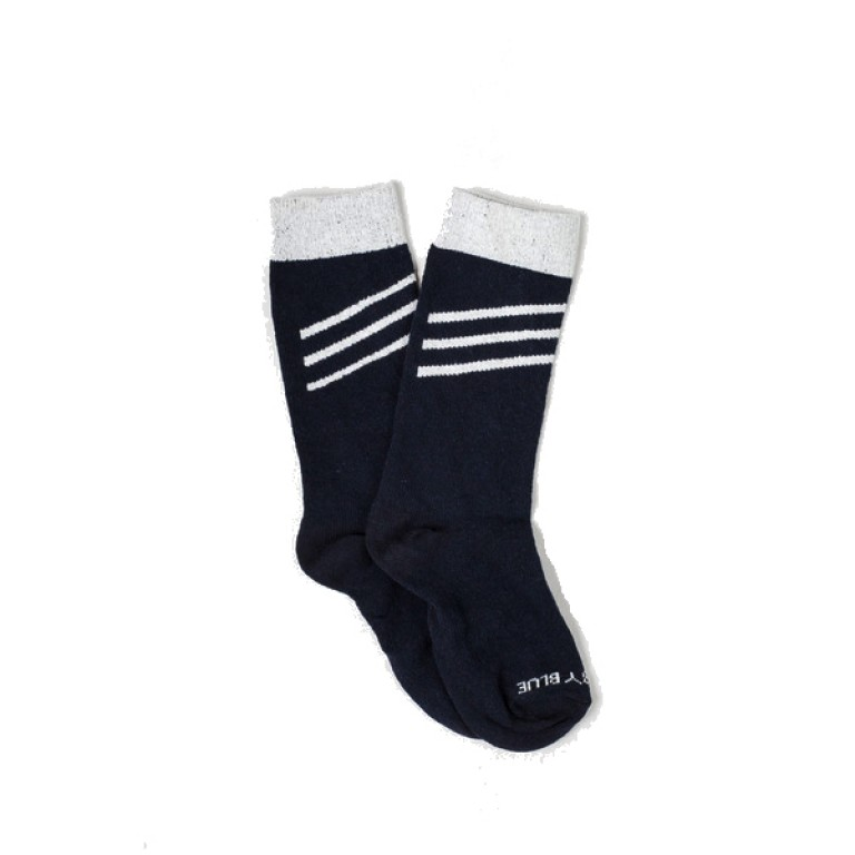United by Blue - Underwear and Socks - Bartrams Socks Navy Slant