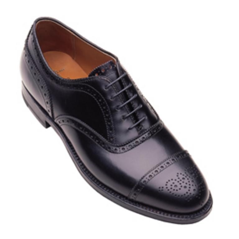 Alden - Dress Shoes - medallion tip bal oxfords