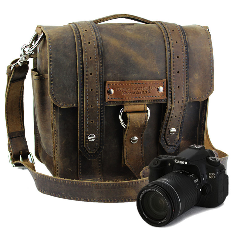 Copper River Bags - Wallets and Bags - Distressed Tan Napa Safari Camera Bag