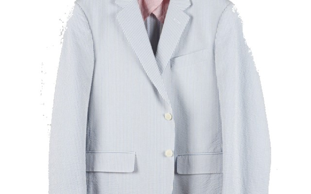 Haspel - Suits and Sport Coats - Gravier Sportcoat Blue Seersucker