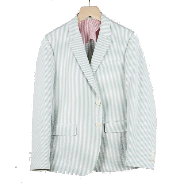 Haspel - Suits and Sport Coats - Gravier Sportcoat Green Seersucker