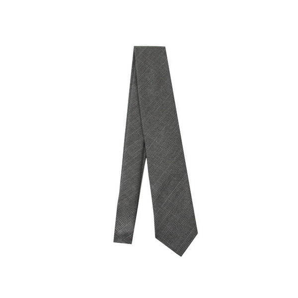 Haspel - Ties and Pocket Squares - Grey Glen Plaid