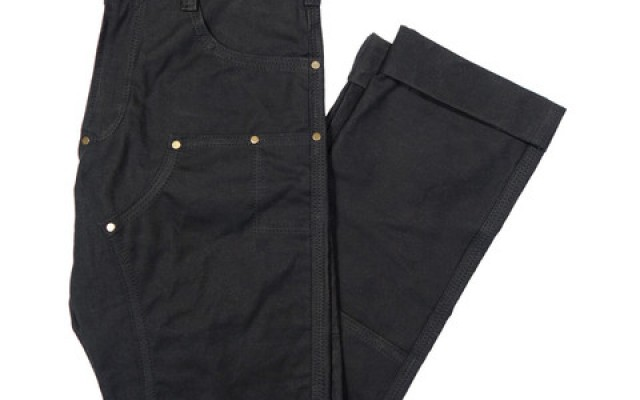 red clouds collective black gn 01 waxed canvas fitted work pants