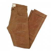 red clouds collective brush brown gn 01 waxed canvas fitted work pants