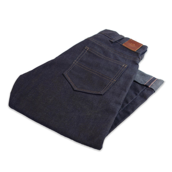 red cross collective gn 03 waxed selvedge denim pants folded