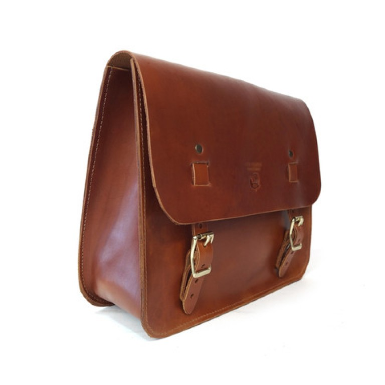 red clouds collective tan saddle bag