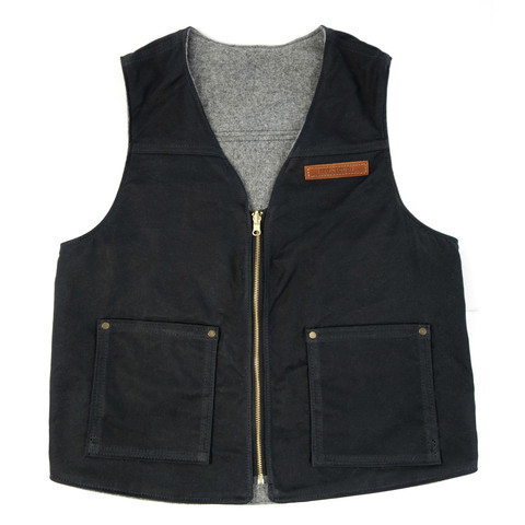 red clouds collective reversible black vest