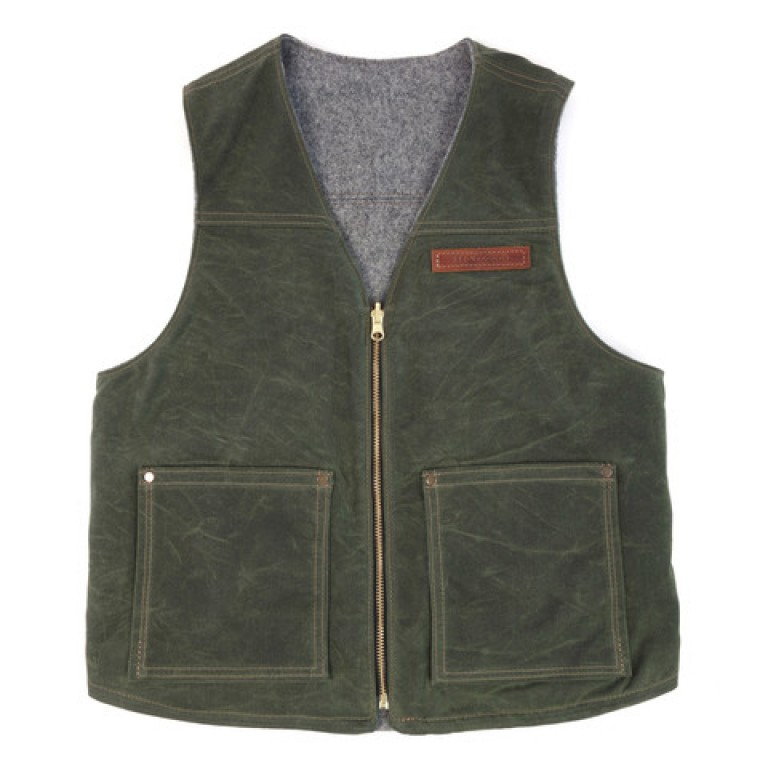 red clouds collective olive reversible vest