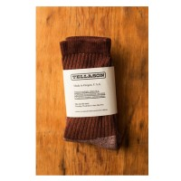 tellason acorn brown dyed crew socks