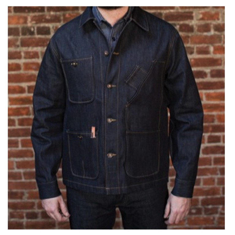 tellason coverall selvedge denim jacket