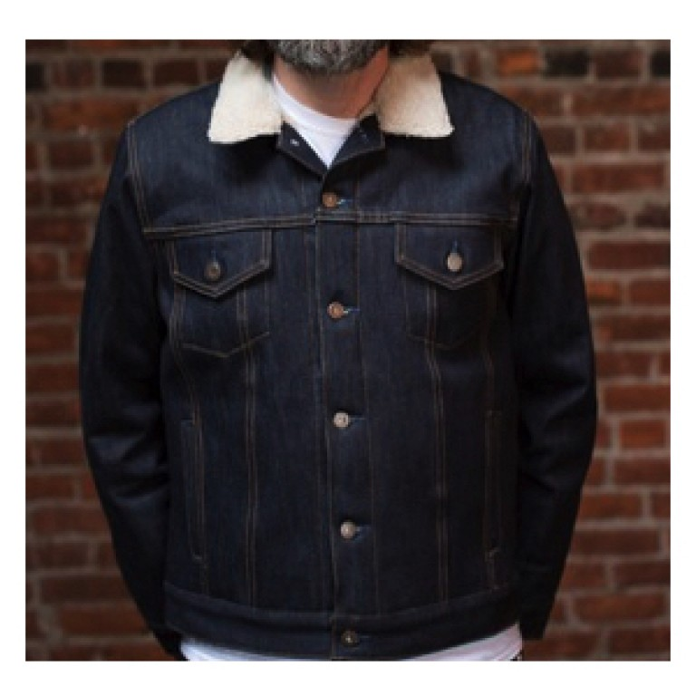 tellason selvedge denim jean jacket with lining