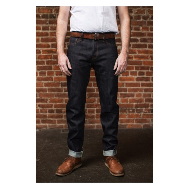 tellason md rise elgin slim tapered jeans