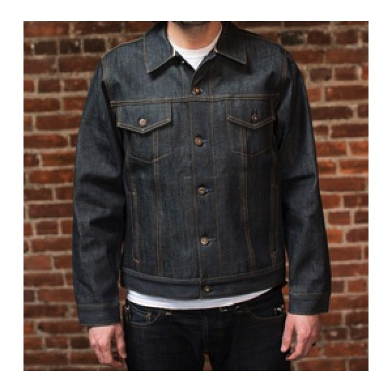 tellason selvedge denim jean jacket