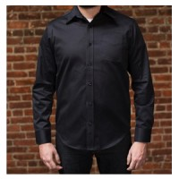 tellason w10 long sleeve single pocket denim shirt