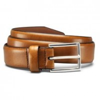 allen edmonds dearborn tan dress belt