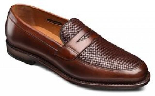 allen edmonds lake buff weave dress loafers