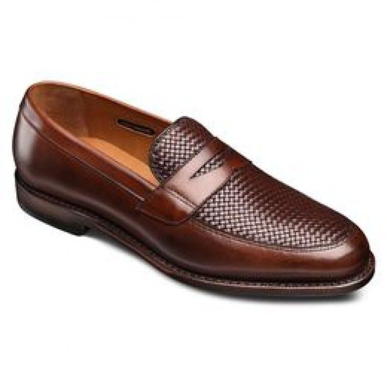 allen edmonds lake buff weave dress loafers