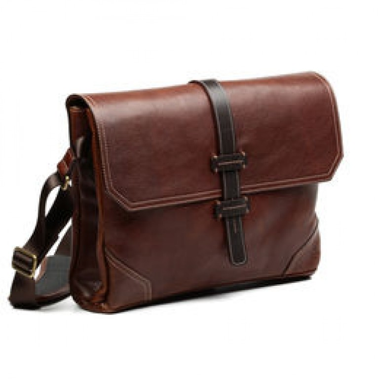 allen edmonds leather messenger bag