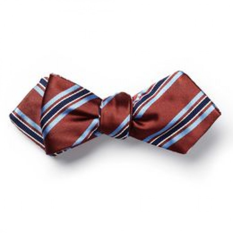 allen edmonds stripe bow tie by carrot & gibbs