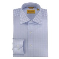 Hickey Freeman - Dress Shirts - Blue Check Dress Shirt