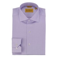 Hickey Freeman - Dress Shirts - Lilac Solid Dress Shirt