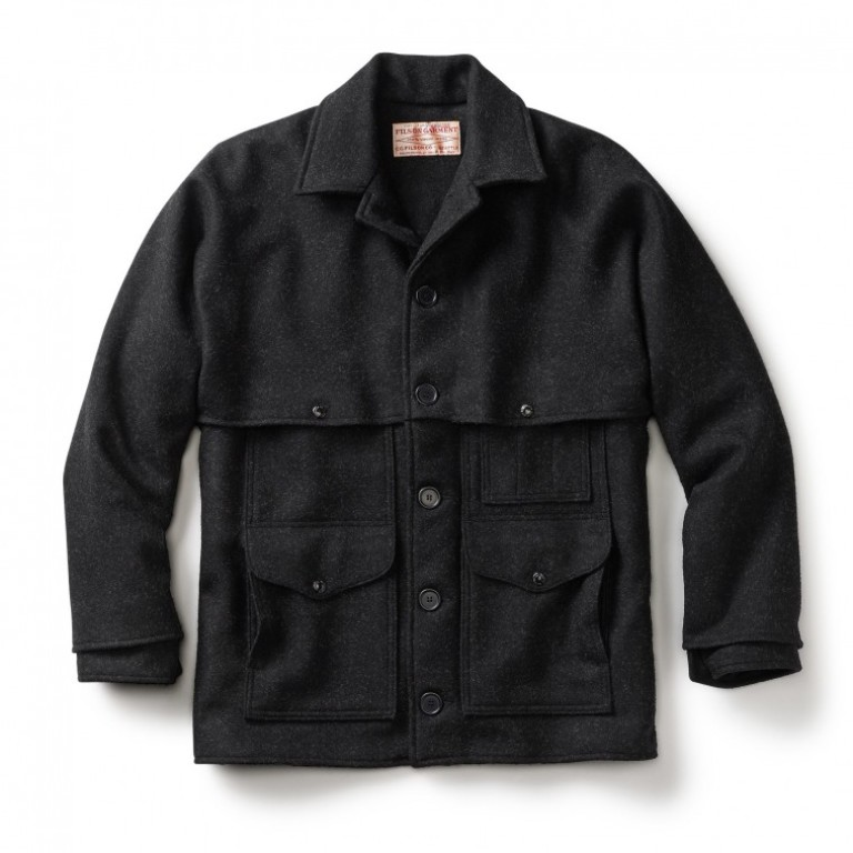 Filson - Coats & Jackets - Double Mackinaw Cruiser Alaska Fit Charcoal