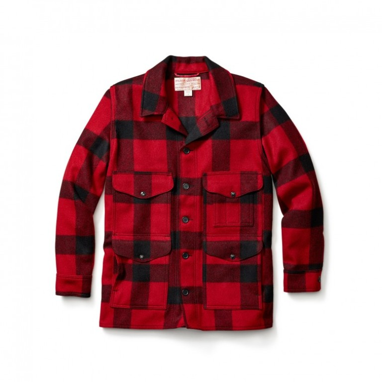 Filson - Coats & Jackets - Mackinaw Cruiser Red-Black Seattle Fit